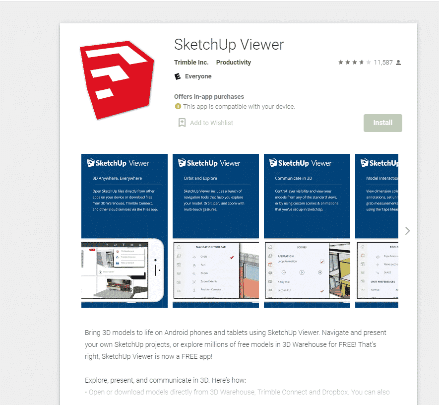 SketchUp Viewer - 3D Design app