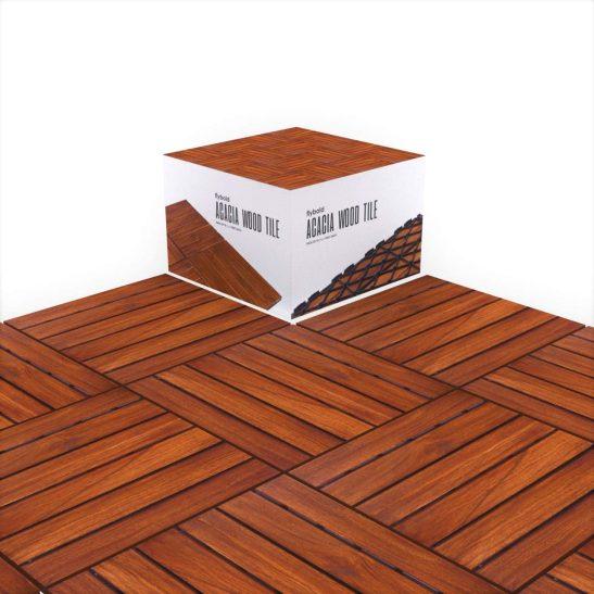 Acacia Wood Interlocking Flooring Outdoor