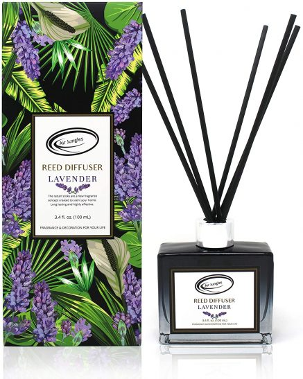 Air Jungles Reed Diffuser Lavender Scent Set Sticks