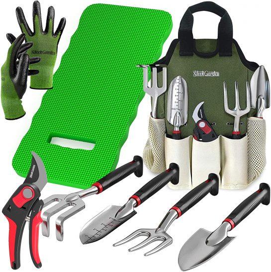 Gardening Equipment Set Sleek Gardening 8-piece