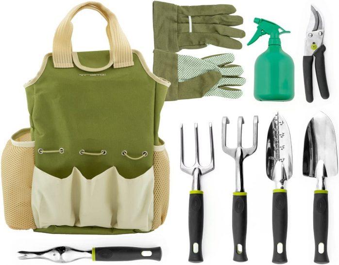 Vremi Garden Tools Set – 9 Pieces