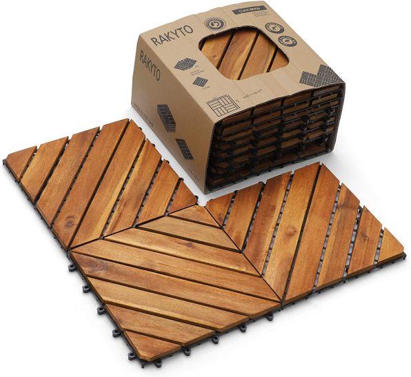 Wood Flooring Interlocking Outdoor Tiles