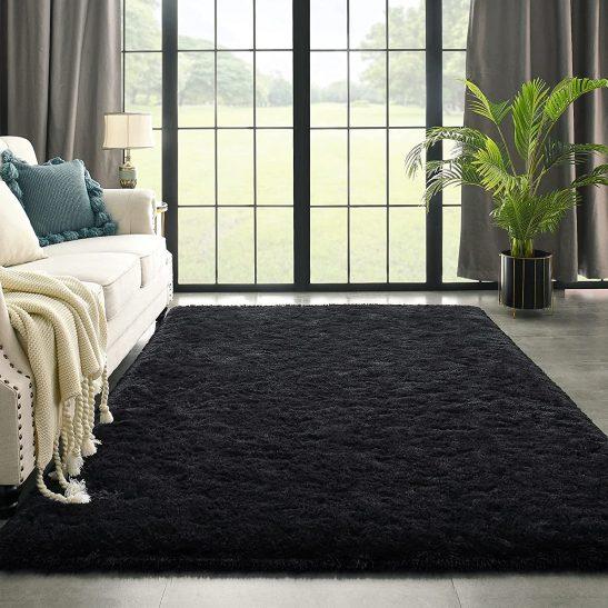 Black Area Living Room Home Decor Carpet