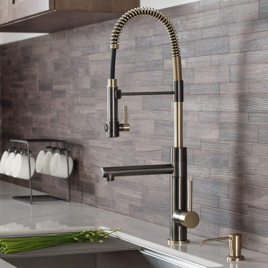 Kraus Two-Function Commercial Style Pre-Rinse Kitchen Faucet