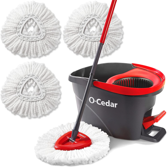 Microfiber Easywring Spin Mop Bucket Surface Cleaning System by O-Cedar